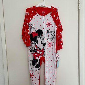 NWT- Minnie Mouse Pajama Onesie